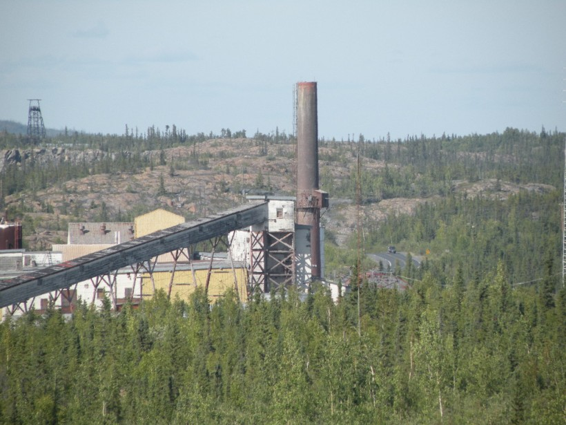 Abandoned roaster stack, Giant Mine
