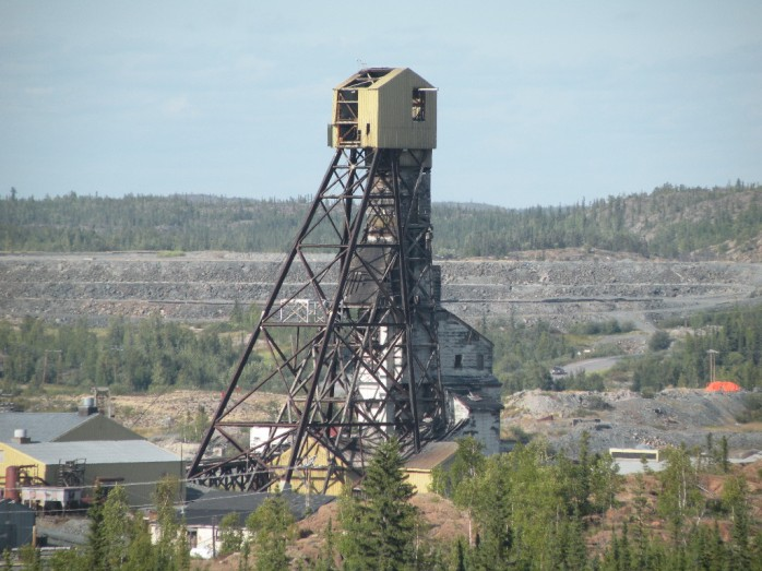 Abandoned headframe, Giant Mine