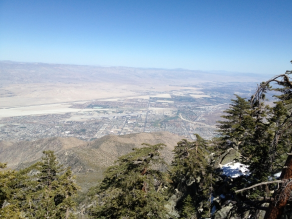 Palm Springs and the Coachella Valley Viewed from the Summit of MountSan Jacinto