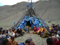 Buddhism is not an official or a state religion in Mongolia. However, Buddhist lamas (monks) play a central role in venerating sacred oboos.