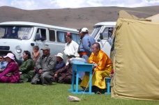 In rural areas of Mongolia, local people often use Russian vans as vehicles since those vehicles are suitable for dirt roads.