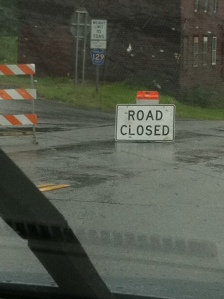 Road closed - Rt 9 West. Photo: Kieko Matteson.