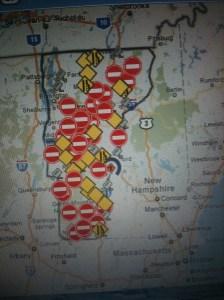 Road closures after Irene. Photo: Kieko Matteson.
