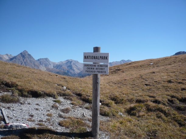 Sign in National Park. Photo: Patrick Kupper.