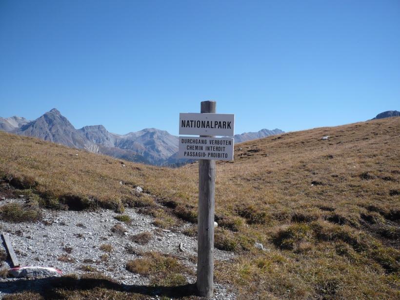 Sign in National Park. Photo: Patrick Kupper.