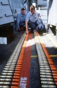 Mark 149 Mod 2 20mm depleted uranium ammunition in 1987. Image from Wikipedia Commons