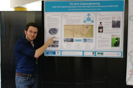 Martin presents his prize-winning research poster at ESEH. Photograph: Susanne Darabas.