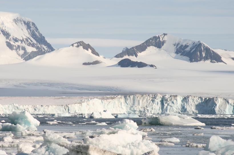 Pristine Antarctic landscape in the Antarctic Sound region. Photograph: Ingo Heidbrink, 2015.