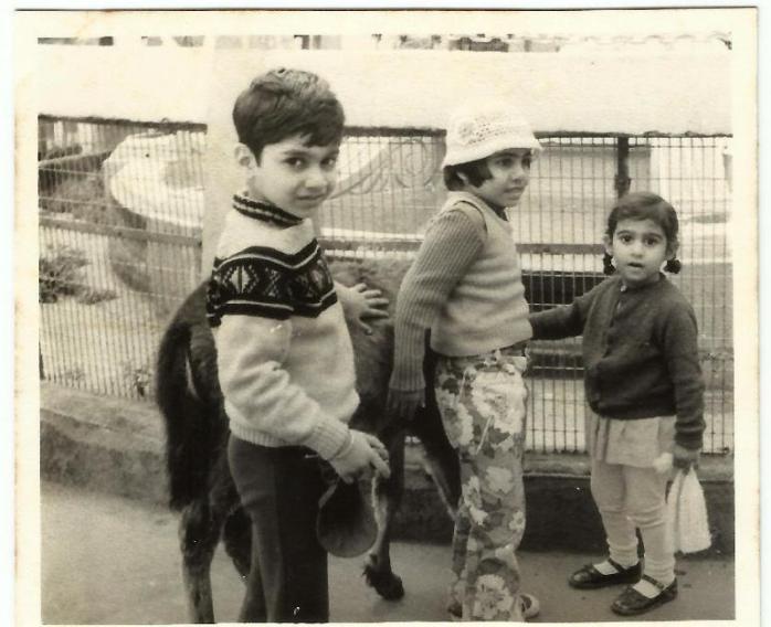 me, sibs, and donkey