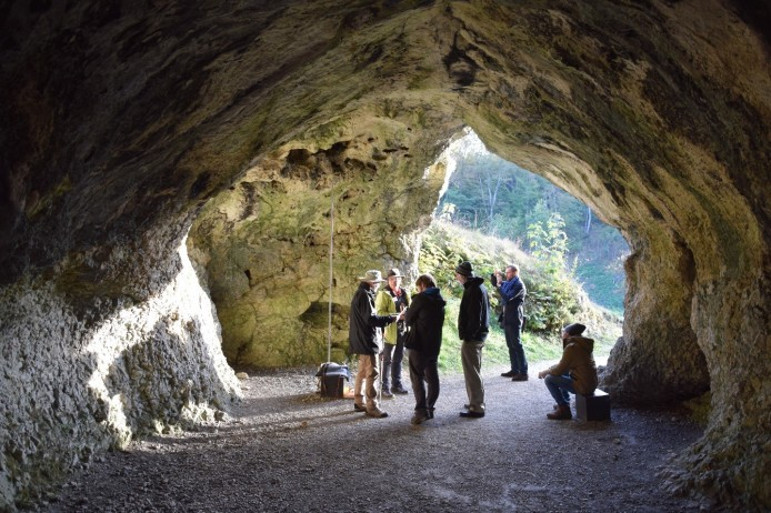 Inside the cave where the ivory sculptures were found.