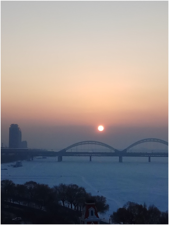 Winter of Songhua River Harbin part
