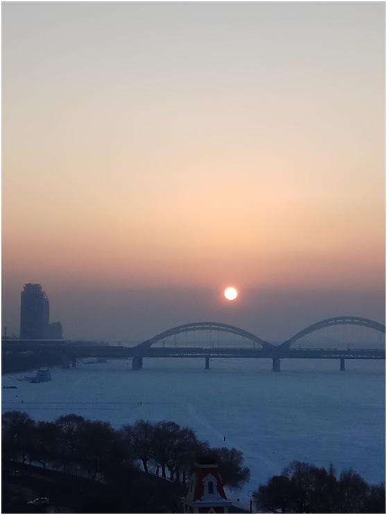 Winter of Songhua River Harbin part
