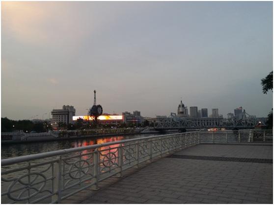 Haihe River at Tianjin railway station