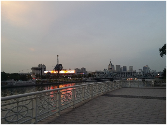 Haihe River at Tianjin railway station
