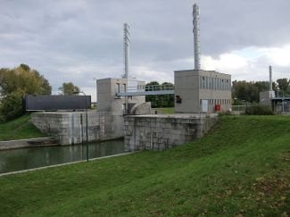 The Nussdorfer lock in Vienna.