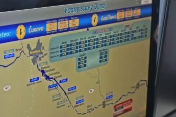 Control system of Gabčíkovo power starion mapping the Danube downstream of Bratislava.
