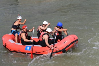 The Gabčíkovo dam also includes a wild water section that serves for tourism and professional water sport training.