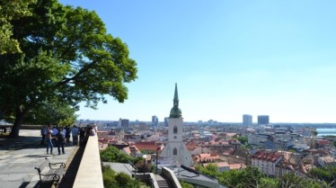 View over Bratislava from the city's Castle