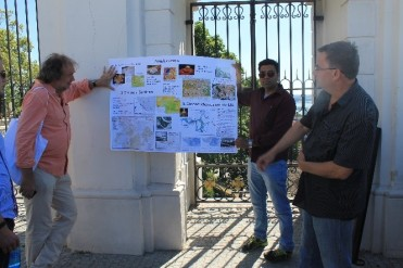 Christof Mauch, Vikas Lakhani, and Peter Pisut, presenting information during our tour of Bratislava Castle.