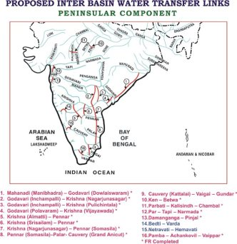 Peninsular component of the NRLP. National Water Development Agency, Ministry of Water Resources, River Development and Ganga Rejuvenation, Government of India. http://nwda.gov.in/upload/uploadfiles/files/1.JPG