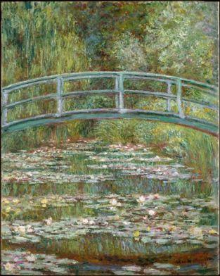 water lilies bridge