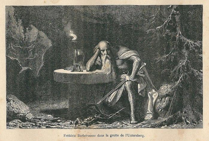 untersberg-emperor barbarossa-wikicommons